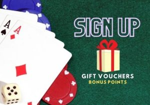 Sign up and receive gift vouchers and bonus points